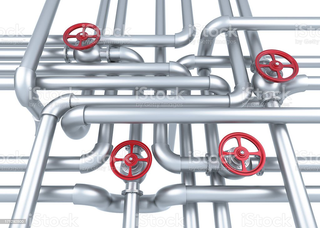 Factory Pipes royalty-free stock photo
