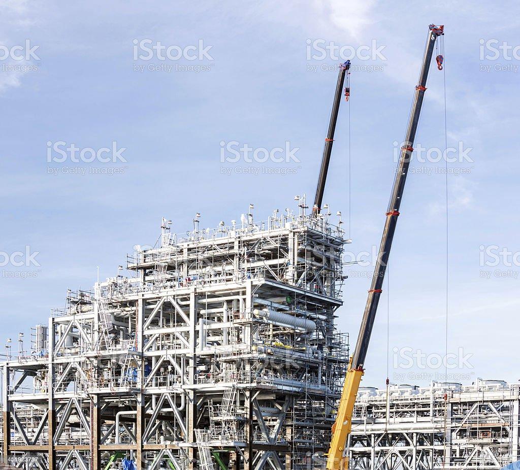 LNG Factory plant stock photo