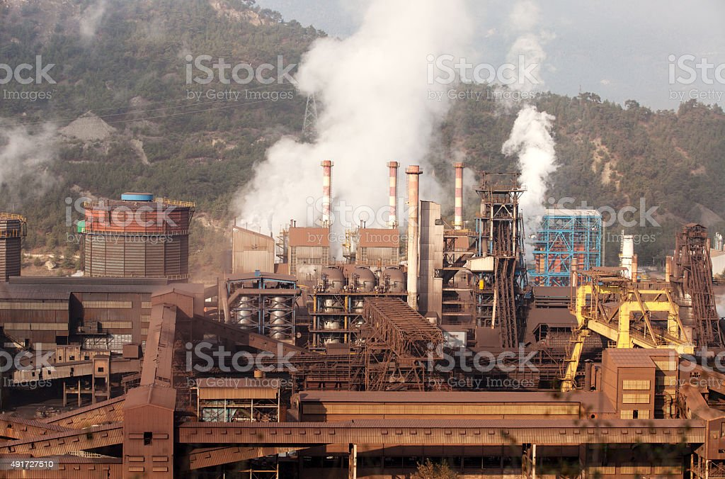 Factory Pollution stock photo