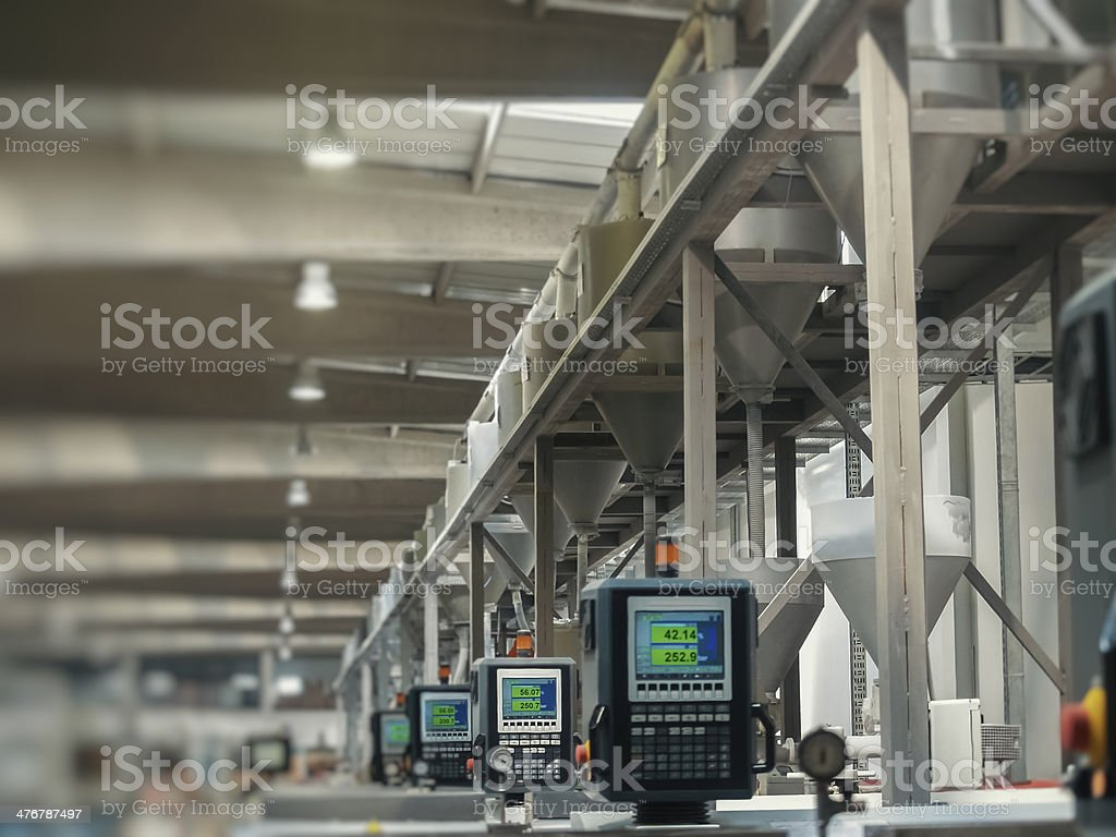 factory production line stock photo