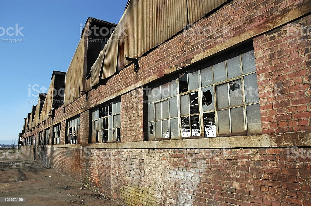 Factory Ruins stock photo