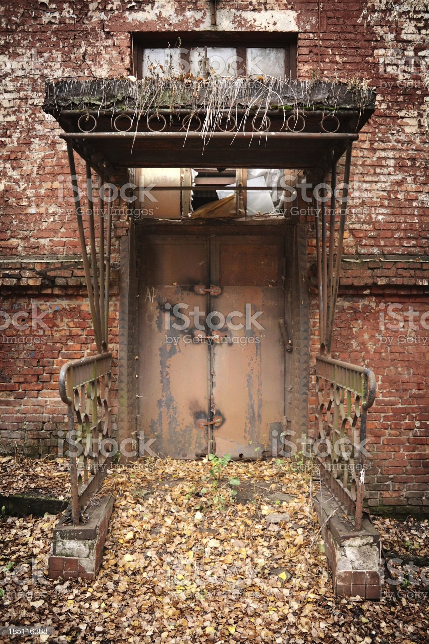 Factory ruins royalty-free stock photo