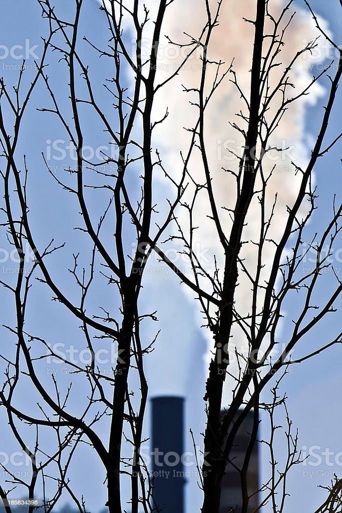 Factory smokestack royalty-free stock photo