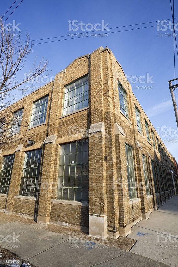 Factory Street Corner Chicago royalty-free stock photo