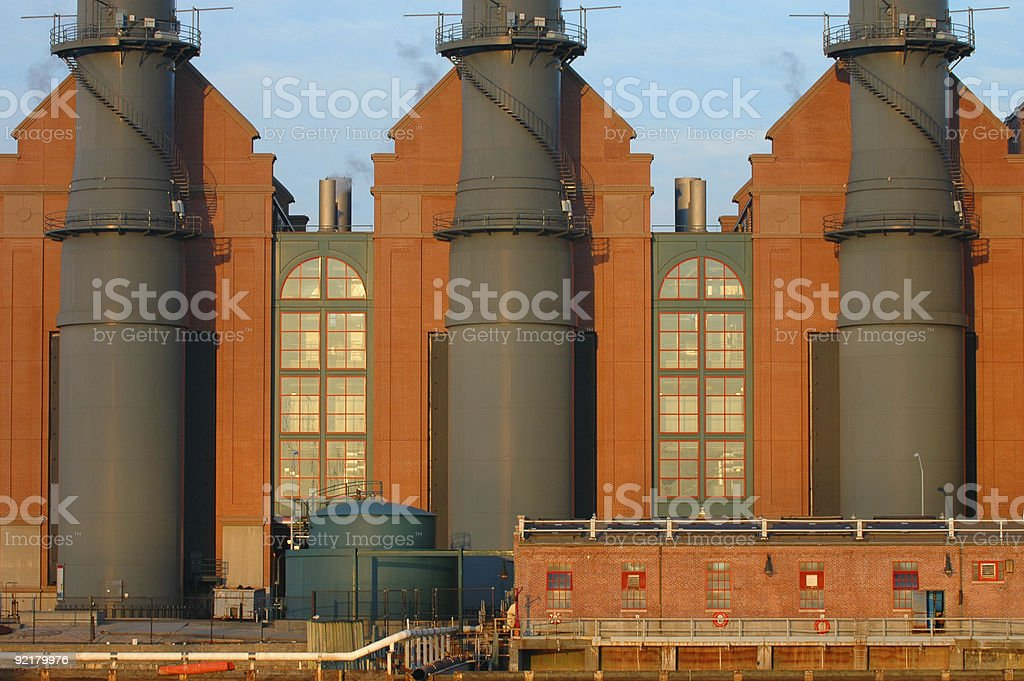 Factory Symmetry stock photo