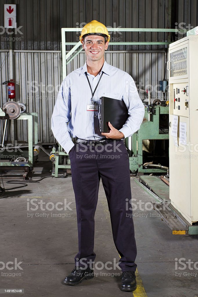 factory technical manager royalty-free stock photo