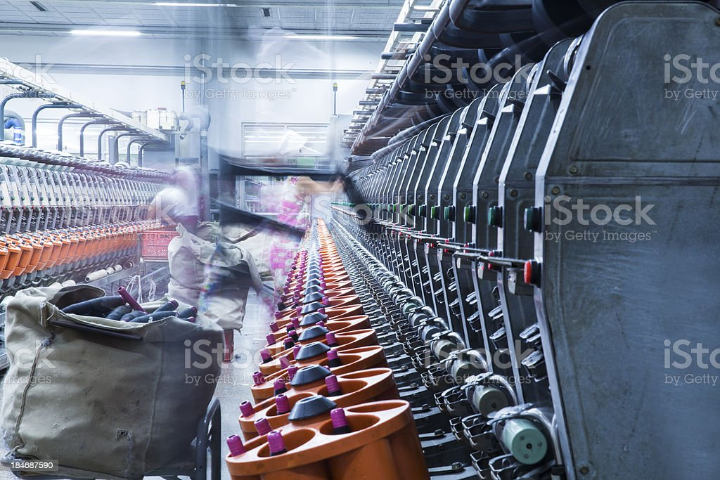 factory, textile mill royalty-free stock photo