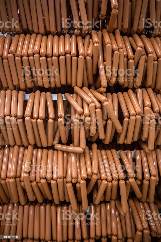 Factory weener stack stock photo