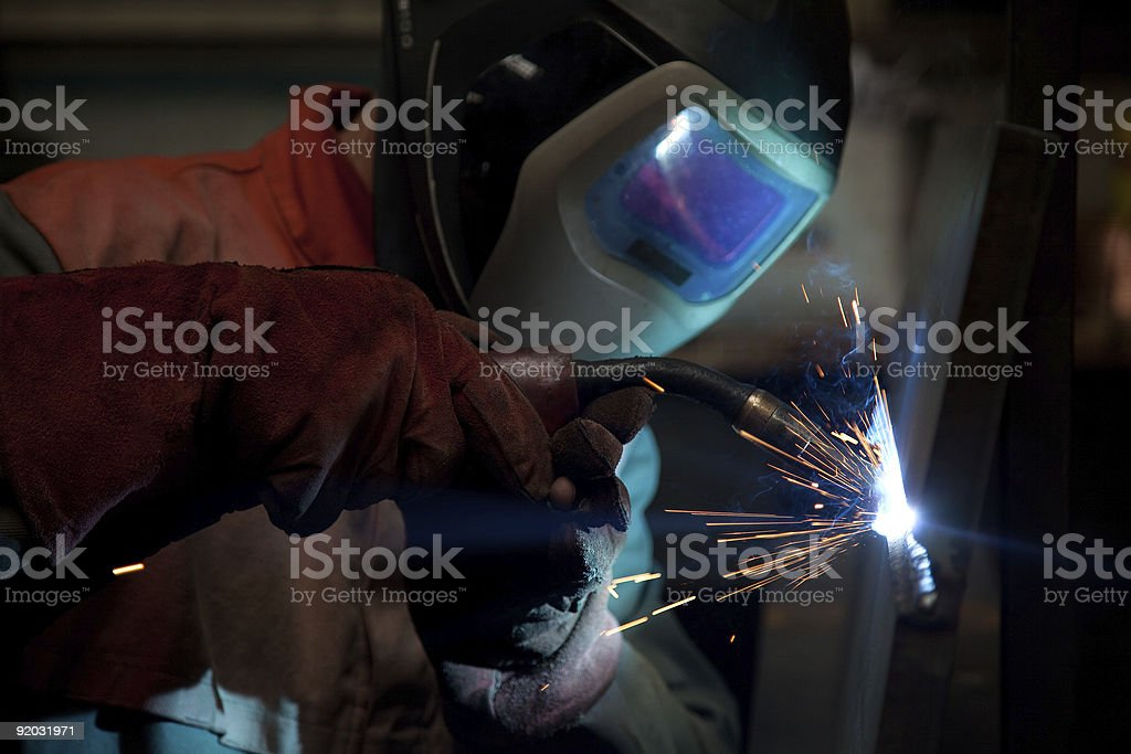 Factory welder at work royalty-free stock photo