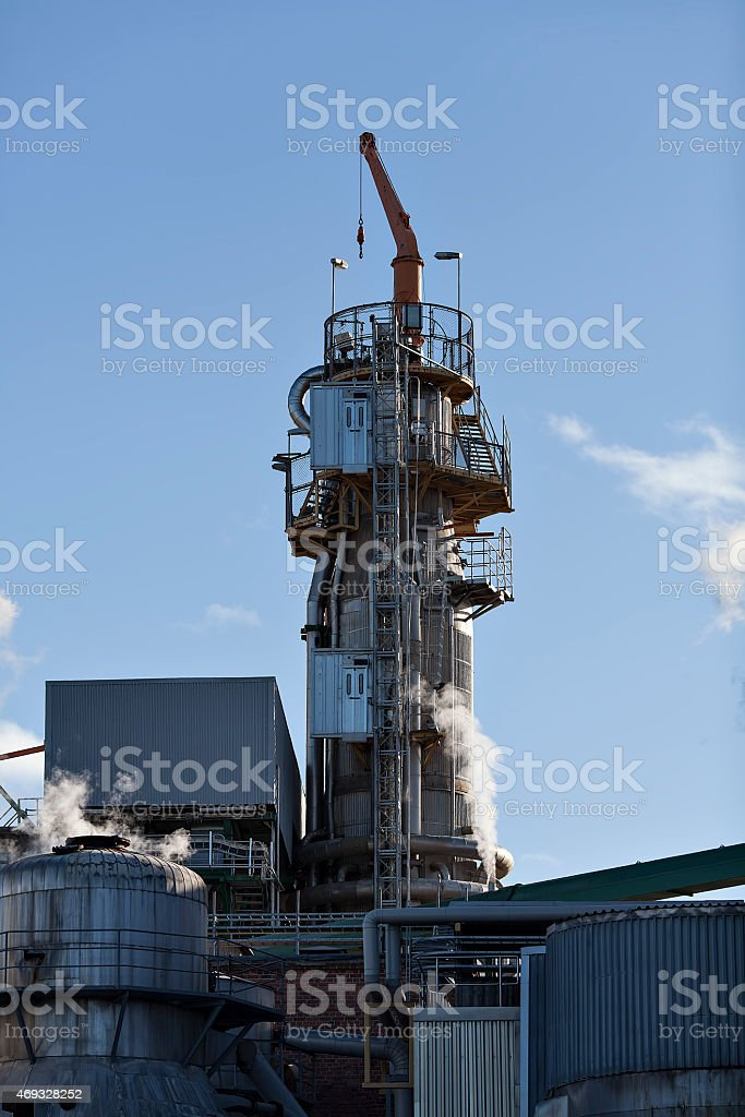 Factory with a crane royalty-free stock photo