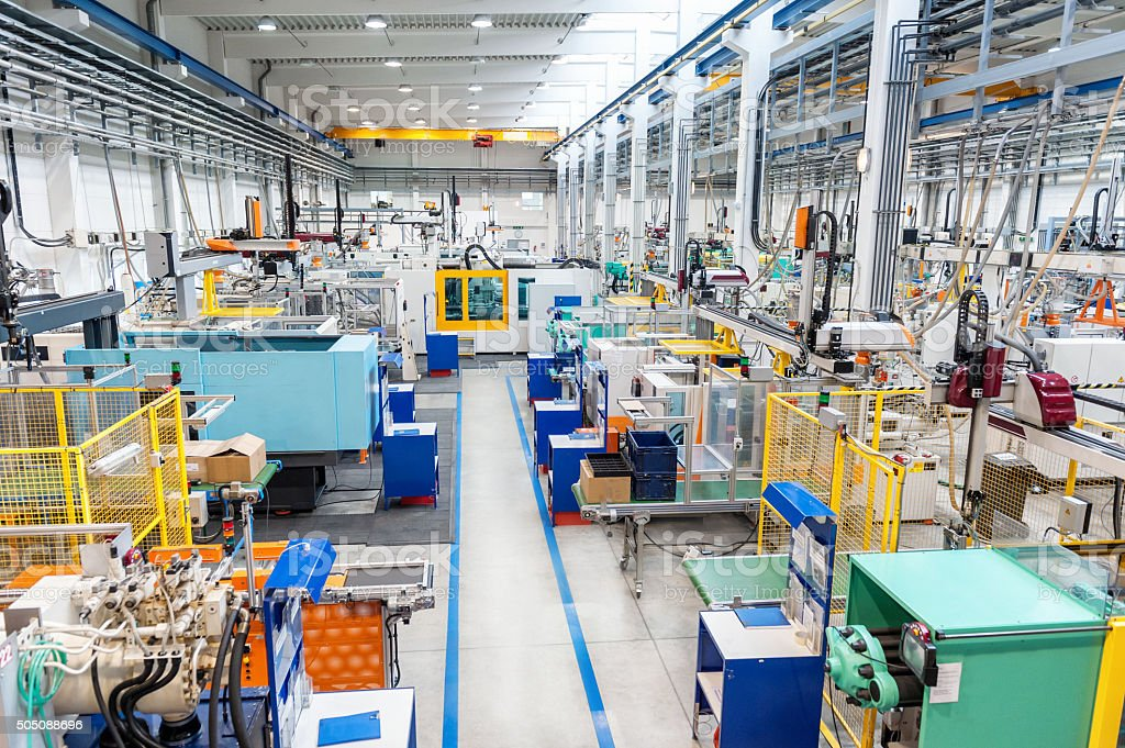 Factory with modern technology stock photo