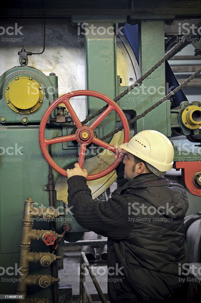 factory worker royalty-free stock photo