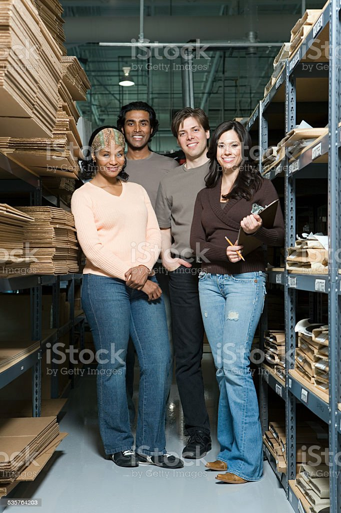 Factory workers stock photo