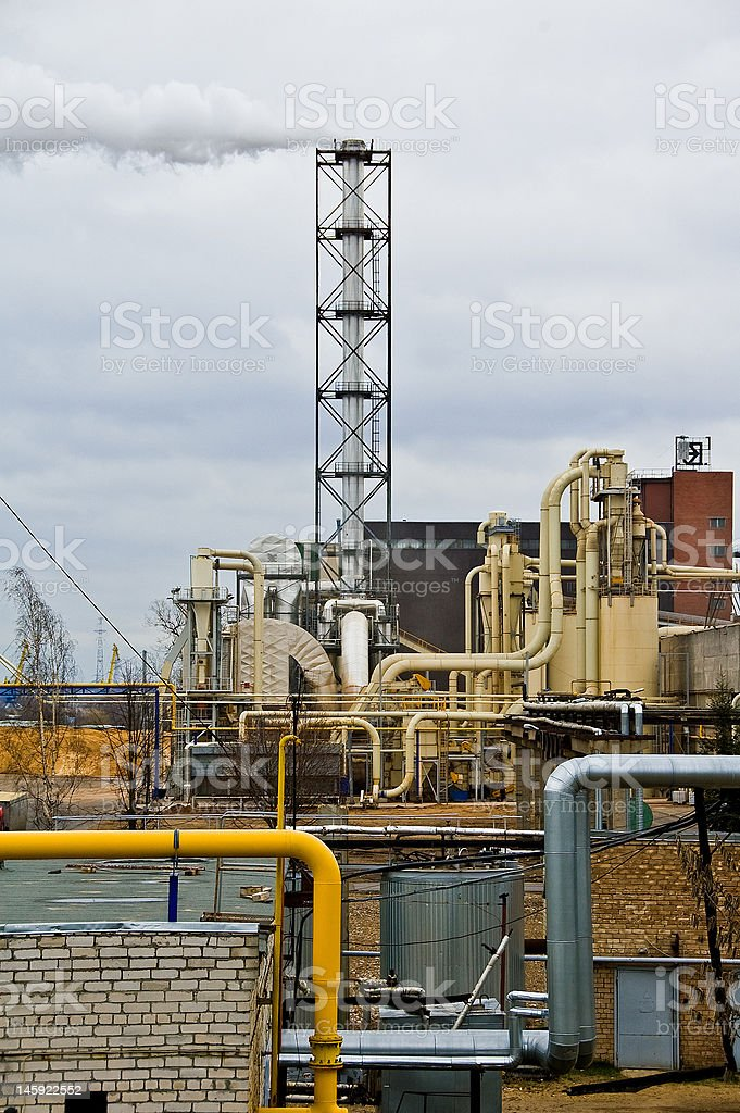Factory yard royalty-free stock photo