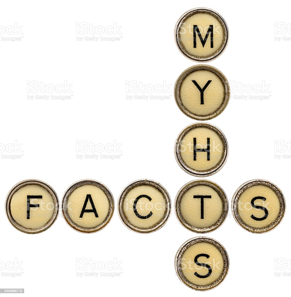 facts and myths crossword stock photo