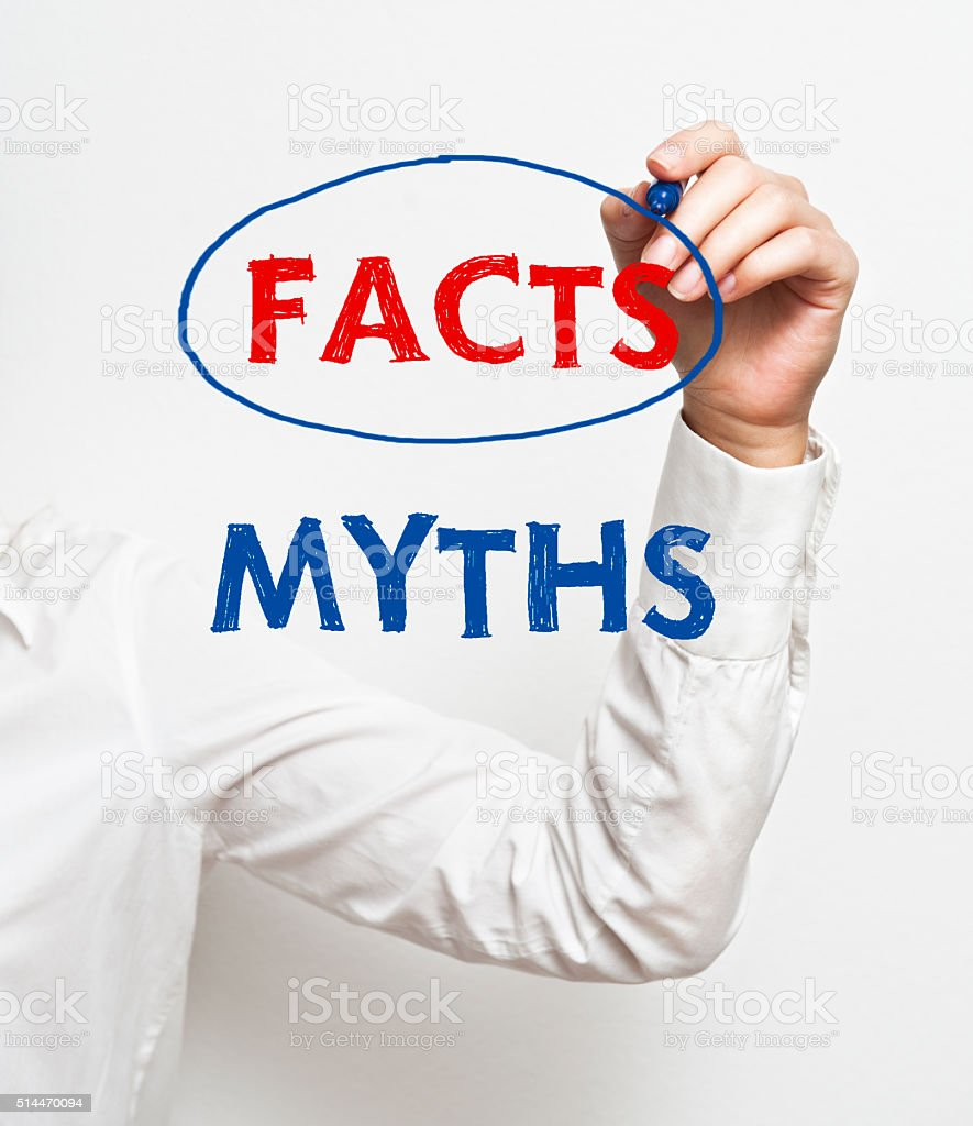 Facts and Myths/ Felt tip pen concept (Click for more) stock photo