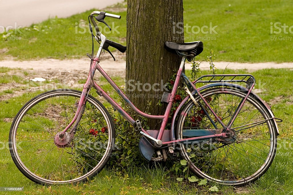 Faded bicycle royalty-free stock photo