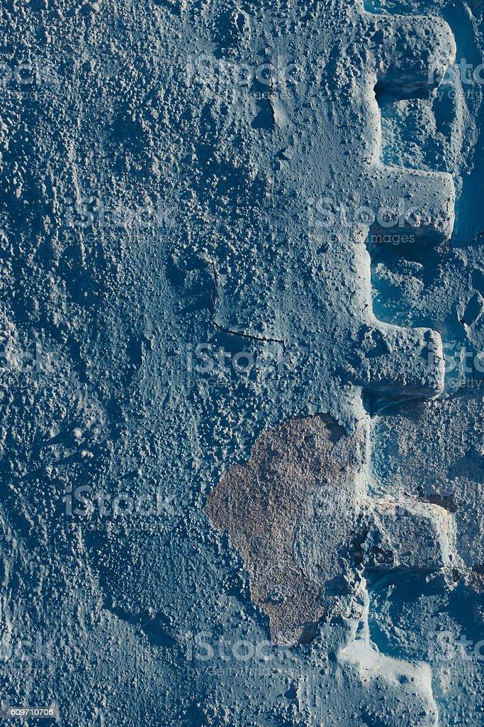faded blu wall texture. stock photo