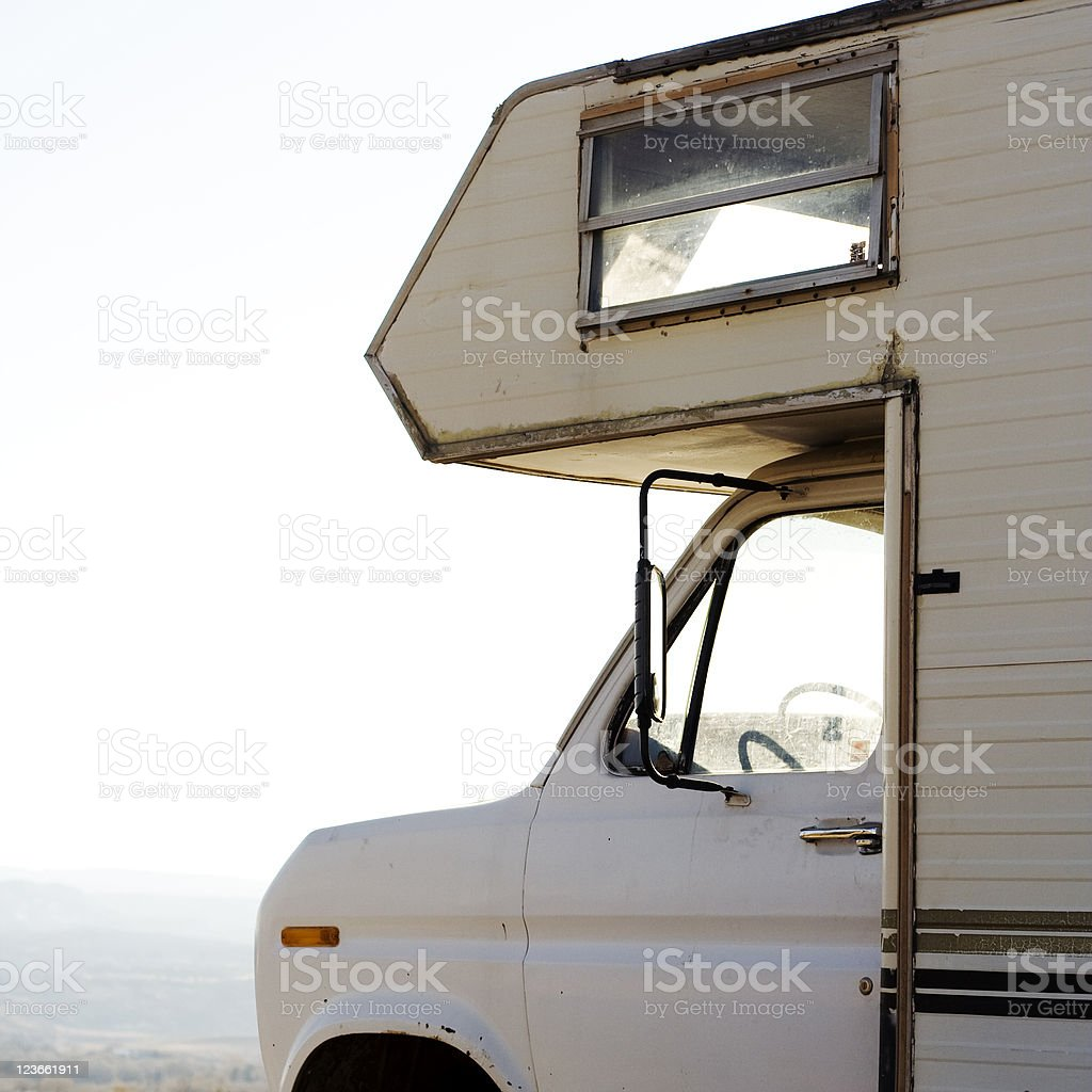 Faded Camper stock photo