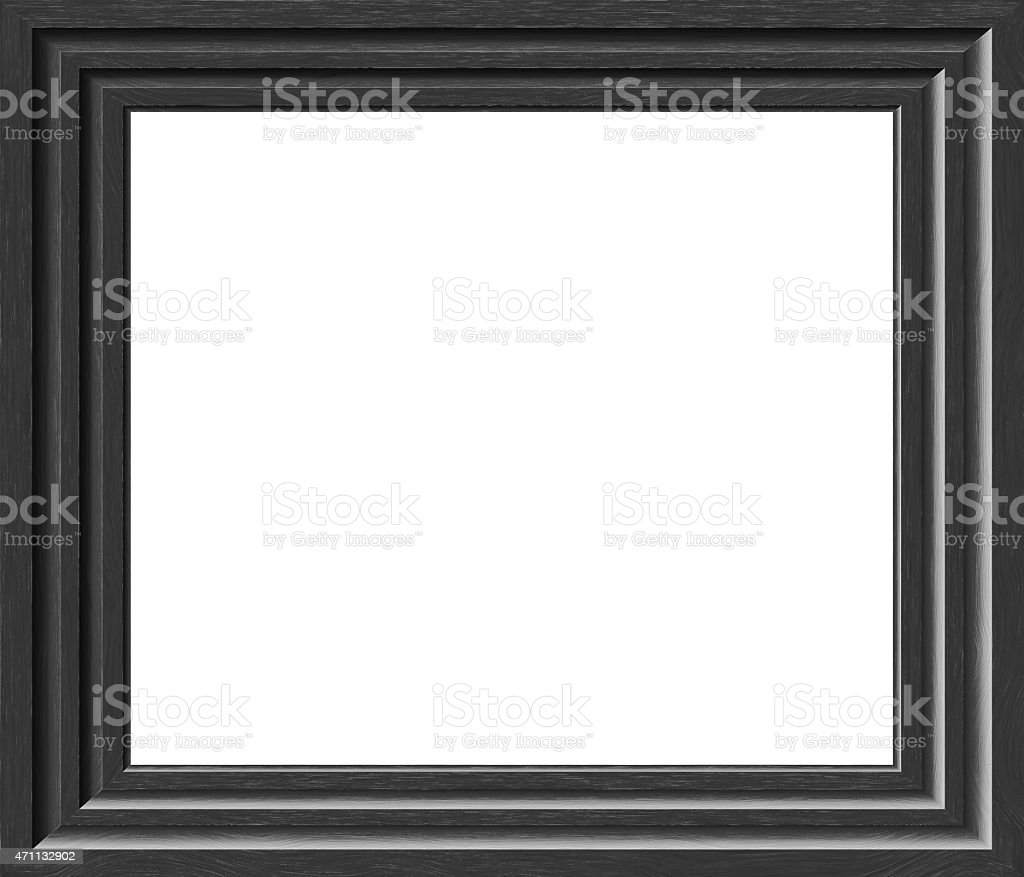 Faded Grey Paint Photo Frame stock photo