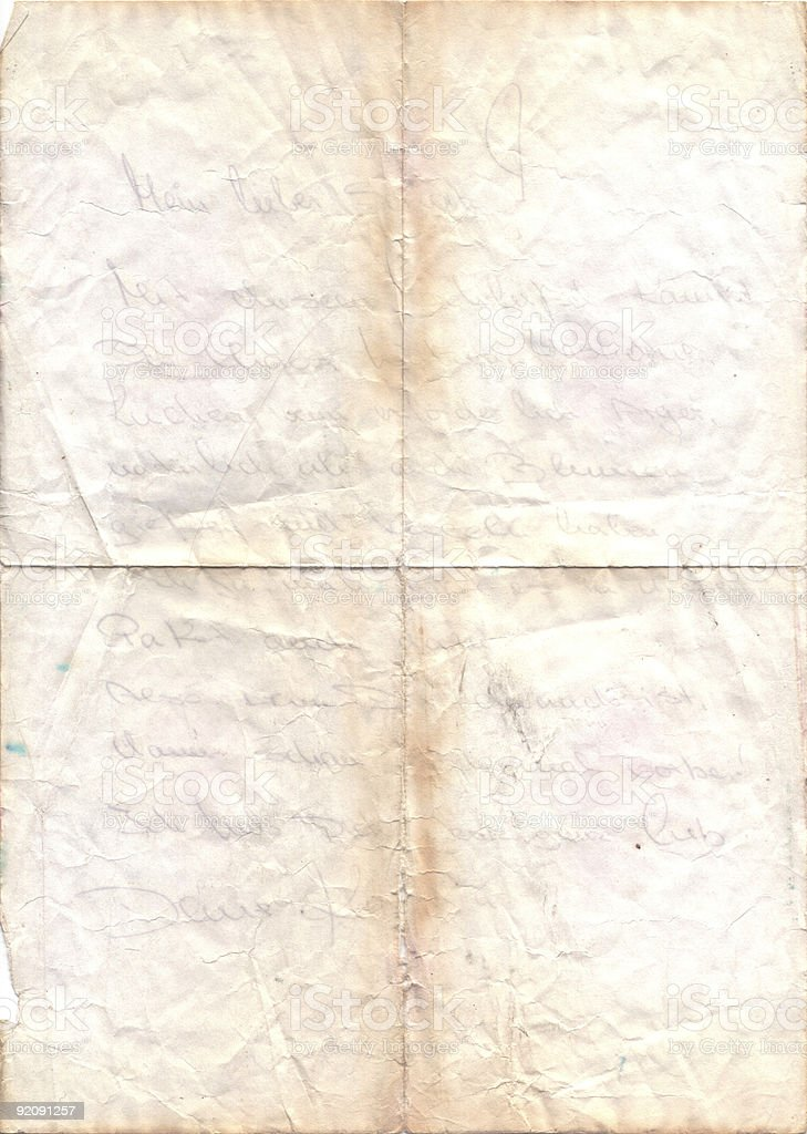 faded old love letter royalty-free stock photo