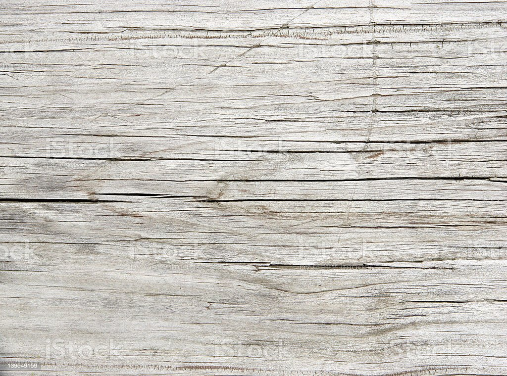 Faded Old Redwood Plank stock photo