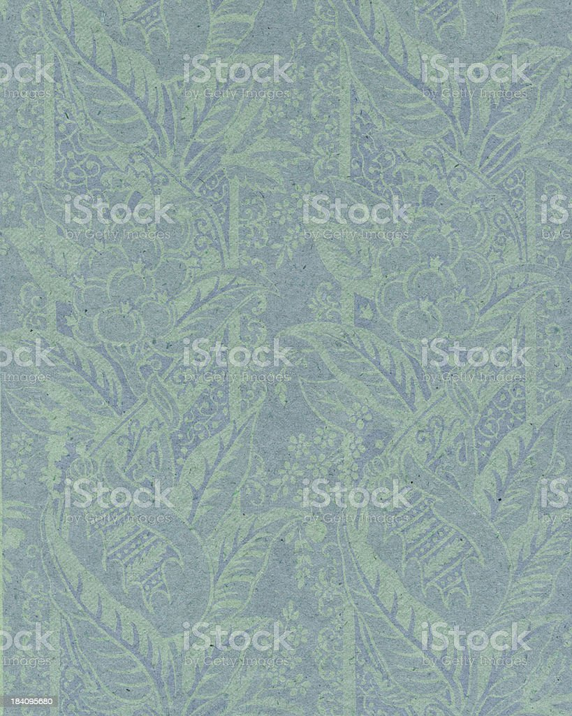 faded paper with floral ornament stock photo