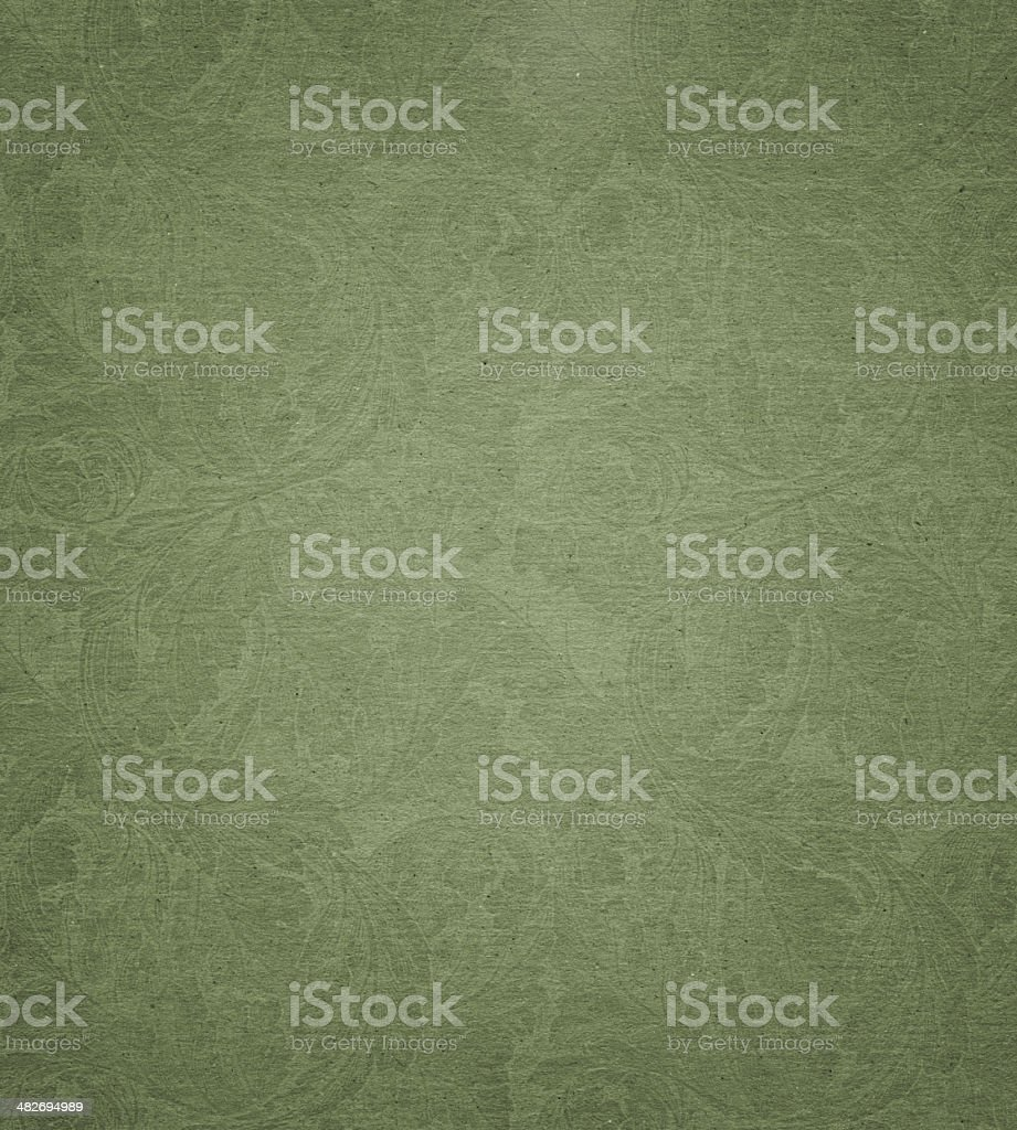 faded paper with floral pattern background texture stock photo