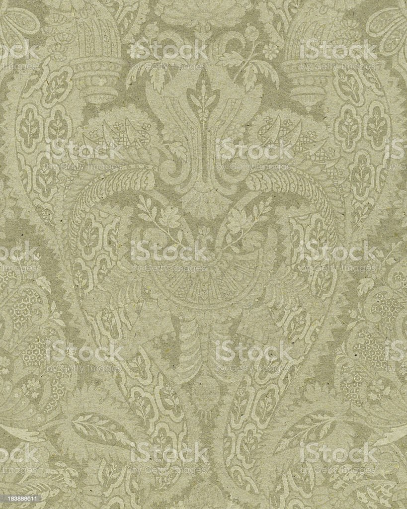 faded paper with ornamental pattern royalty-free stock photo