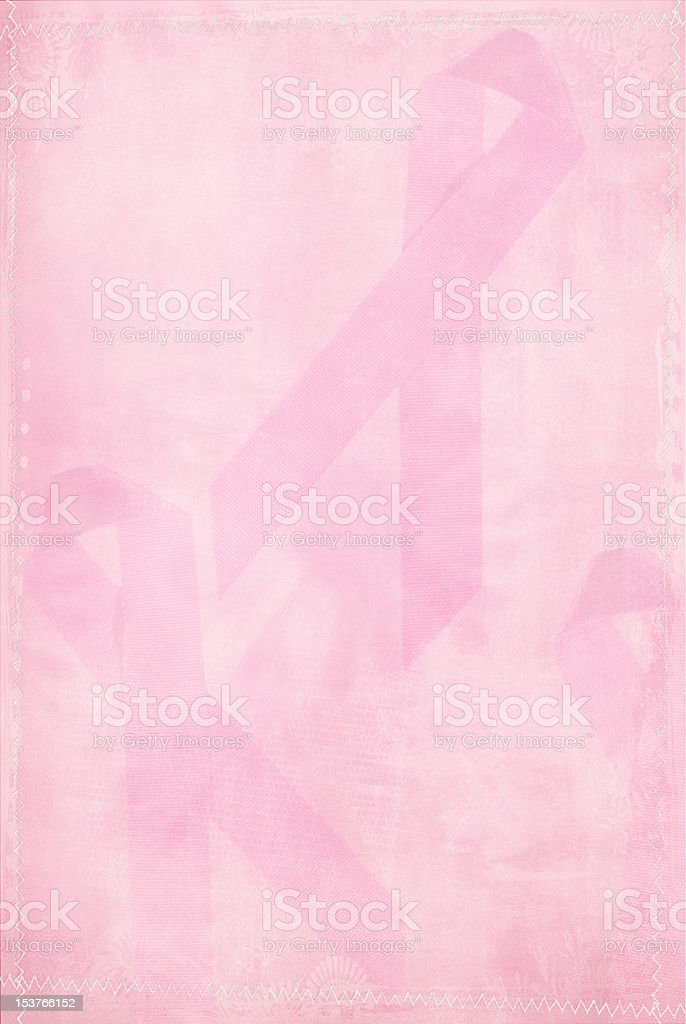 Faded Pink Ribbon stock photo
