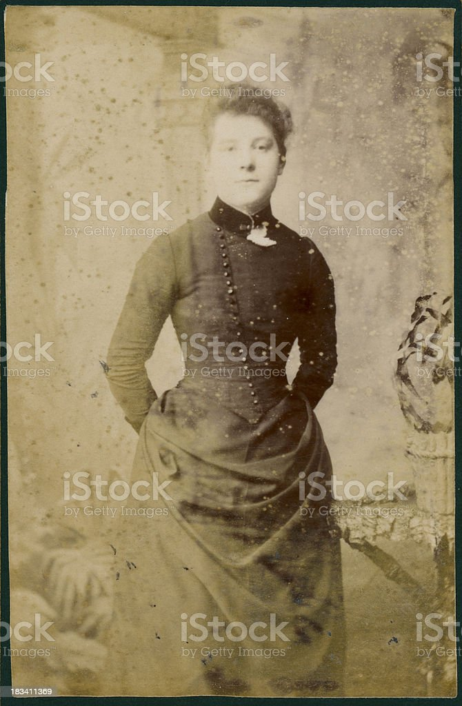 Faded Victorian Photograph royalty-free stock photo