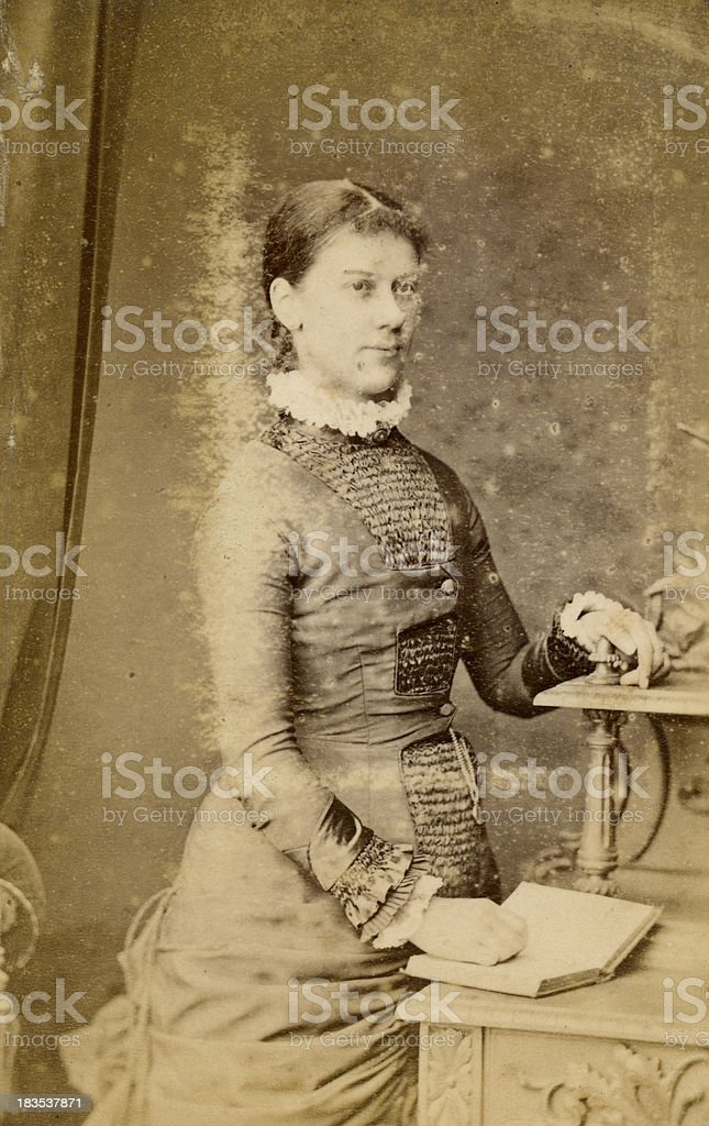 Faded Victorian Photograph stock photo