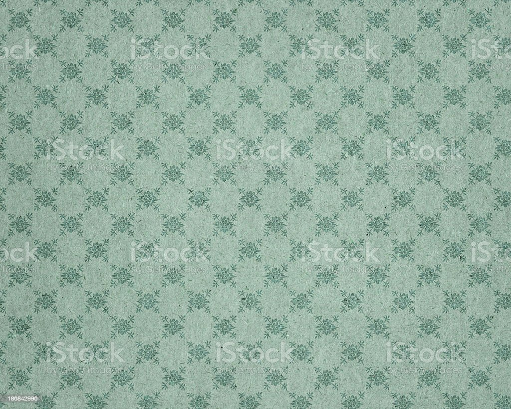 faded wallpaper with floral pattern royalty-free stock photo
