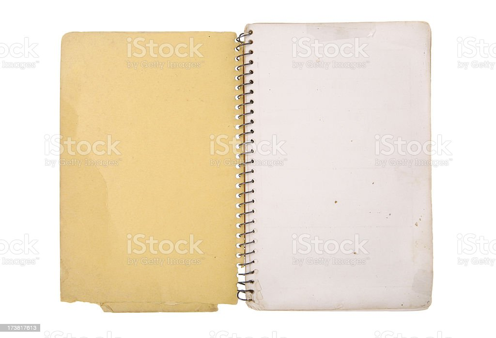 Faded Yellow Notebook royalty-free stock photo