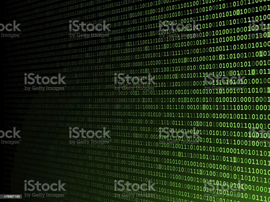 Fading Binary Background royalty-free stock photo