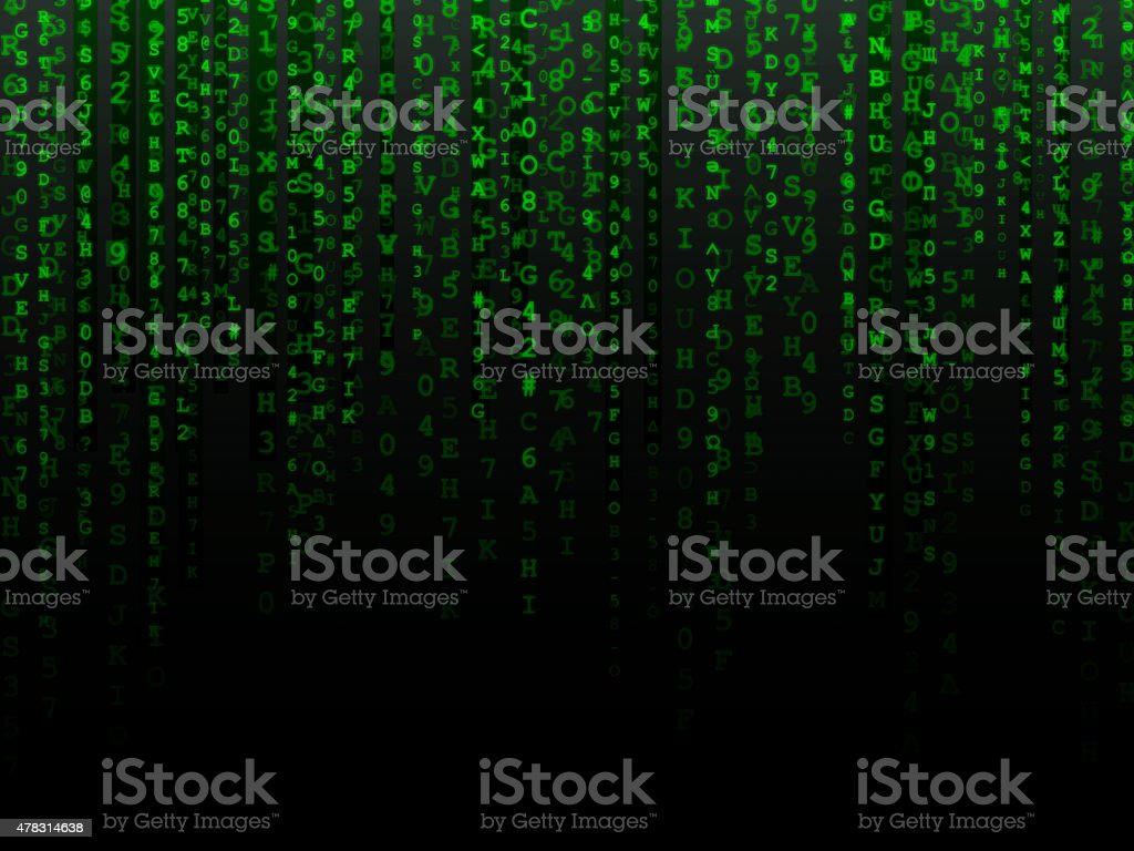 Fading Data Background stock photo