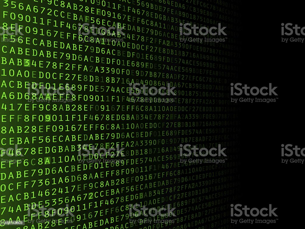 Fading Hexadecimal Background stock photo