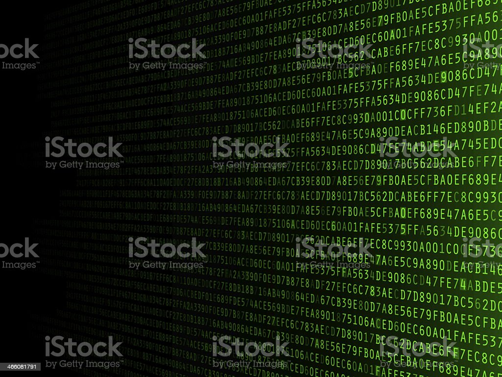 Fading Hexadecimal Background stock photo
