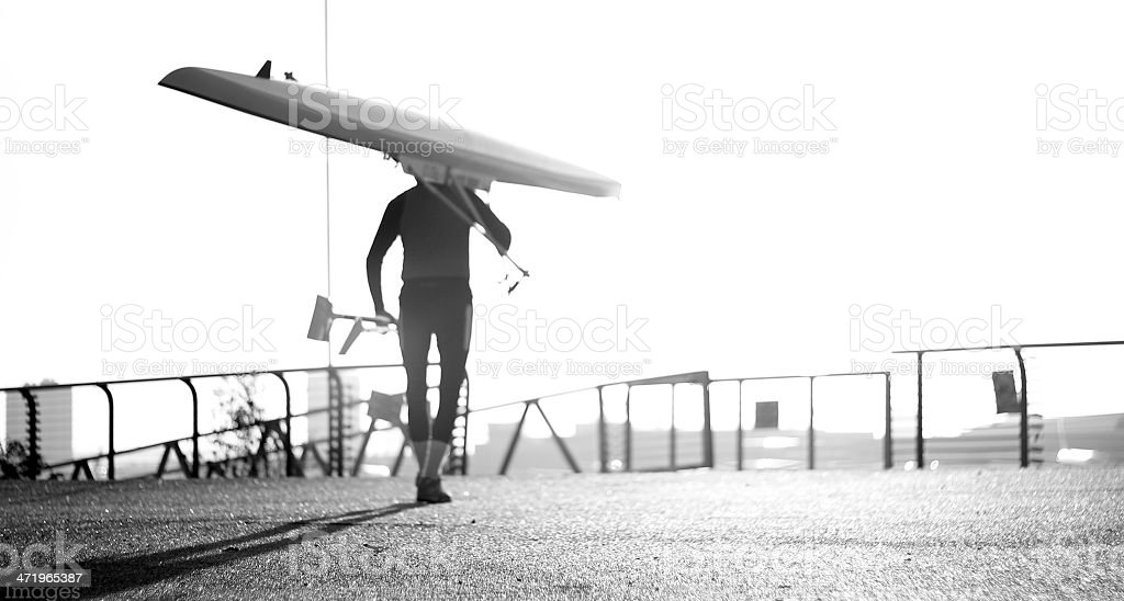 Fading in to the ''zone''... stock photo