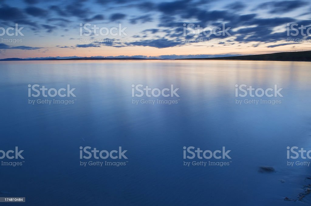 Fading sunset over the sea royalty-free stock photo