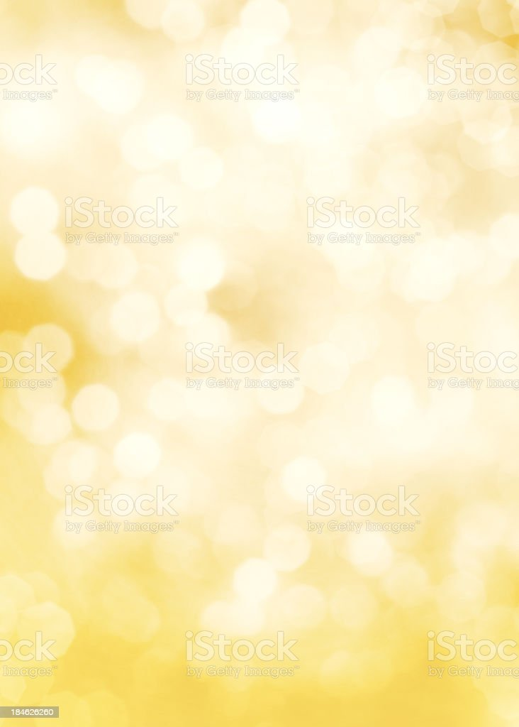 Fading yellow and white dots of light stock photo