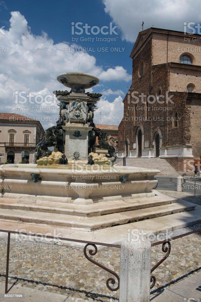 Faenza (Italy): cathedral facade stock photo