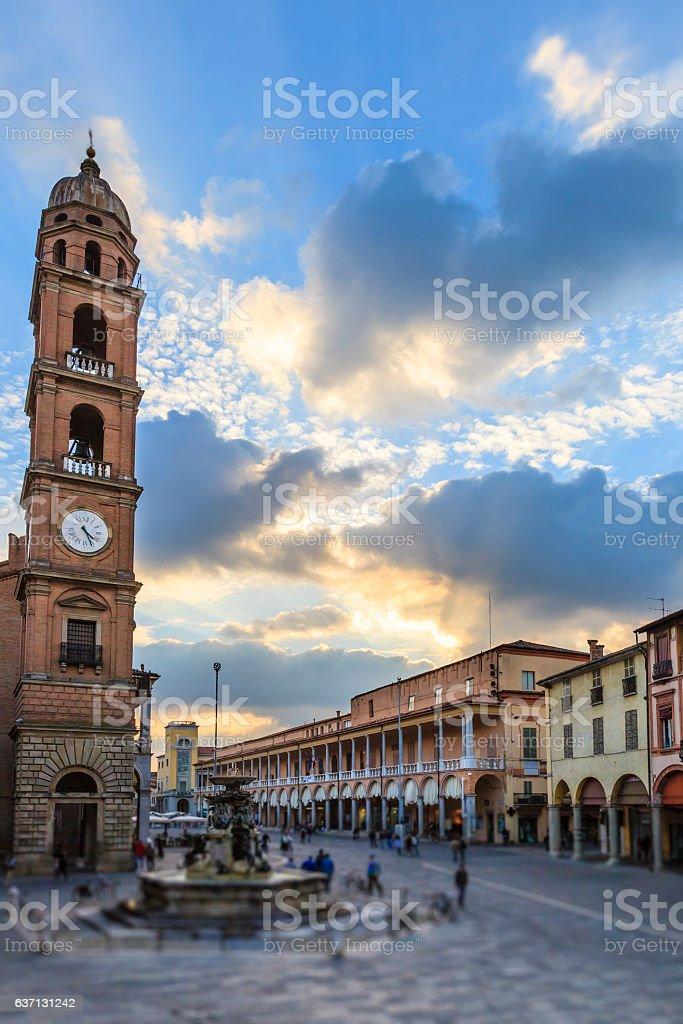 Faenza, Piazza del Popolo - Emilia Romagna, Italy stock photo