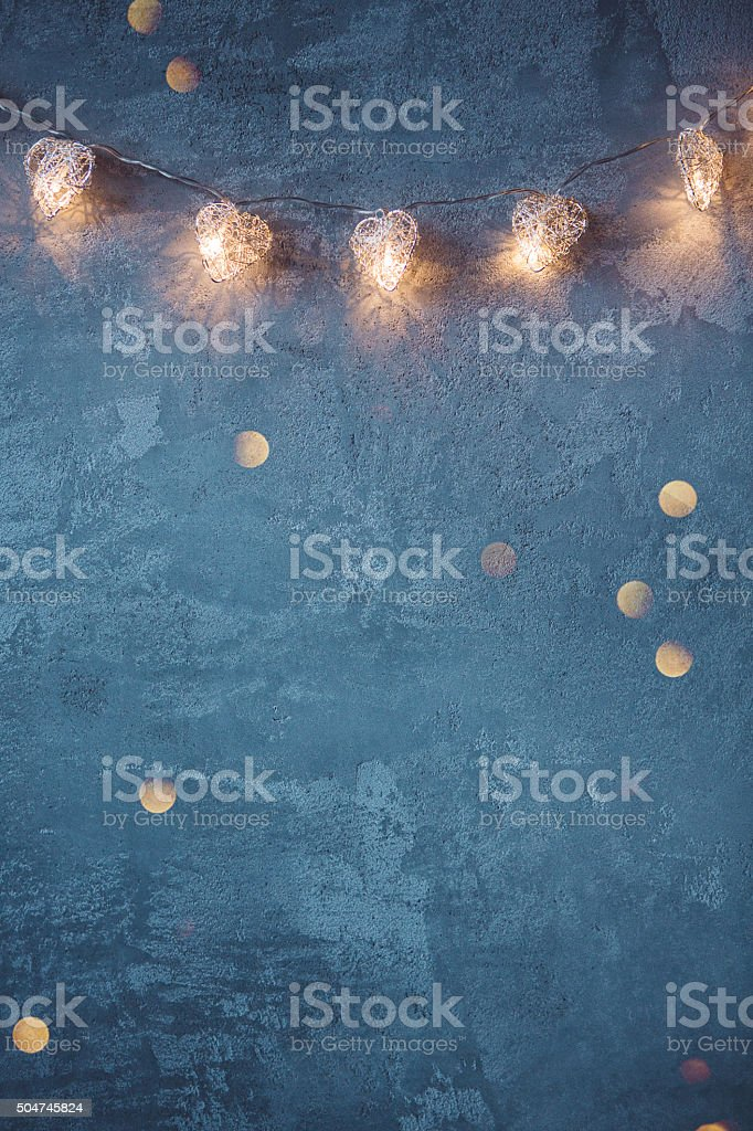Faerie lights stock photo