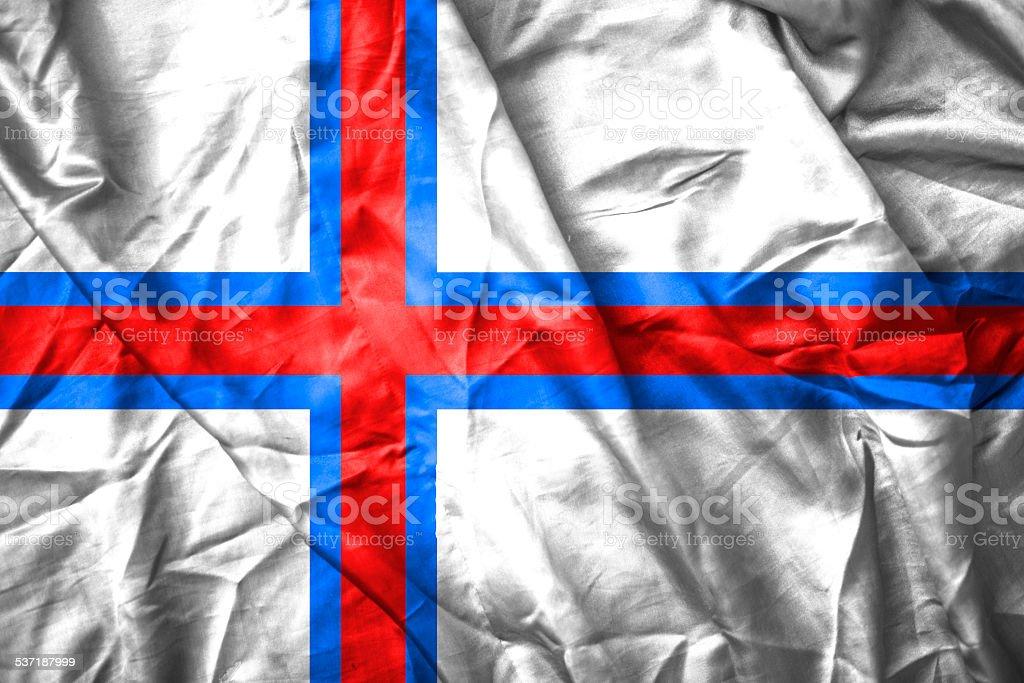 Faeroe islands flag stock photo