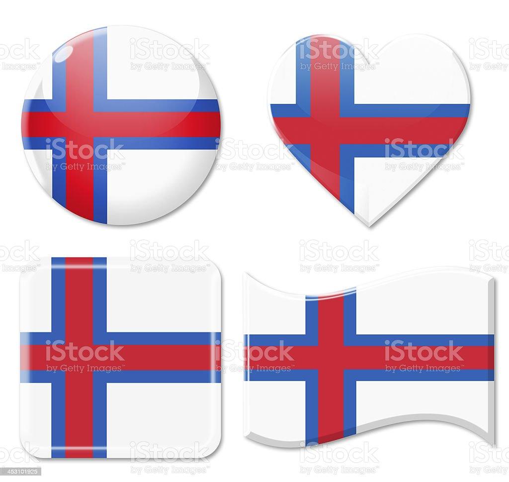 Faeroe Islands Flags & Icon Set stock photo