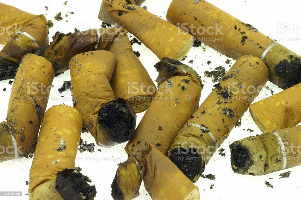 fag ends royalty-free stock photo
