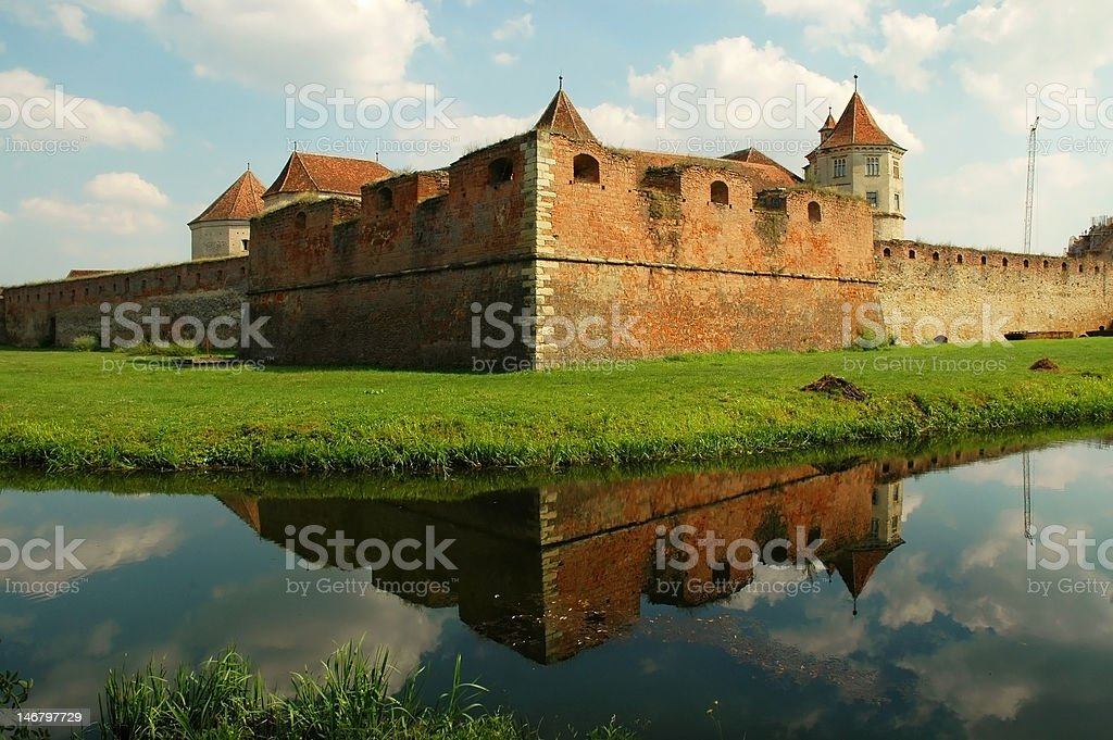 Fagaras fortress, Romania royalty-free stock photo