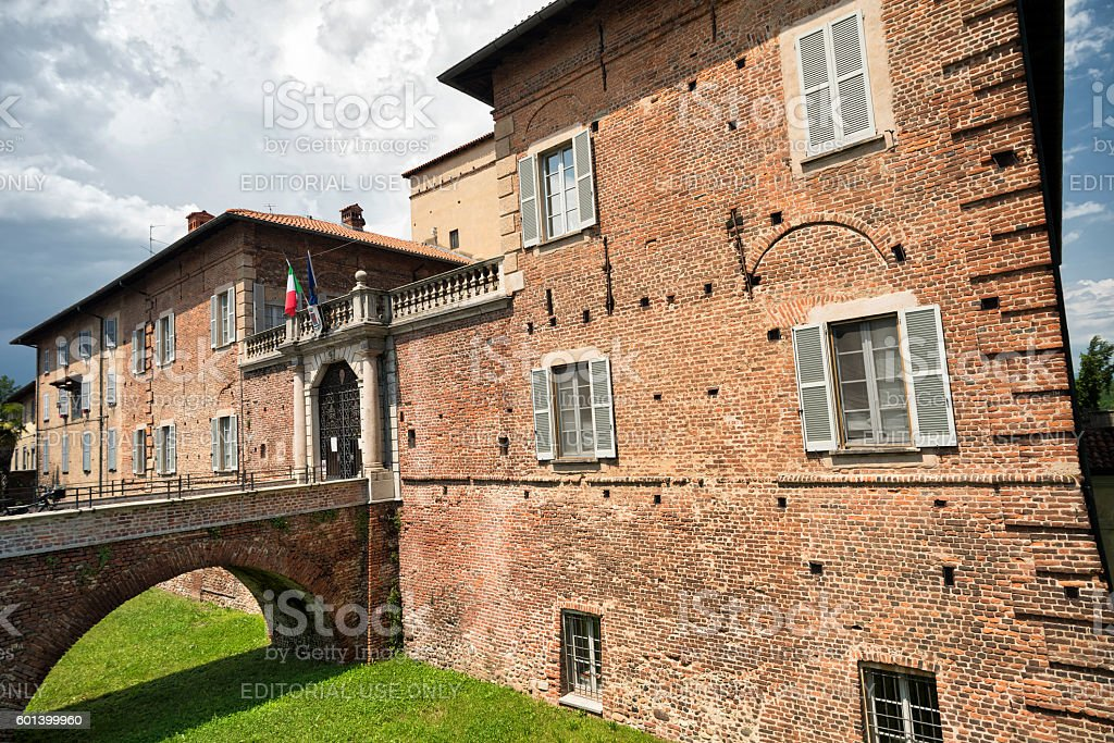 Fagnano Olona (Italy), the castle stock photo
