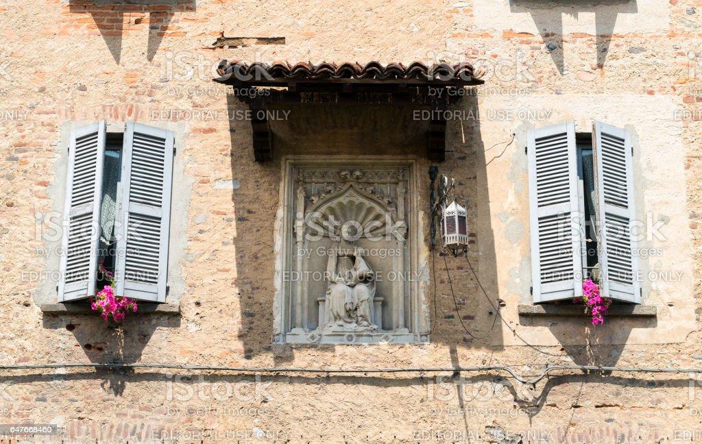 Fagnano Olona (Italy), the castle stock photo